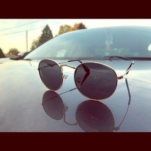 Round frame sun glasses